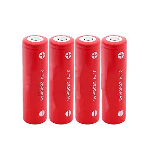 HTRN 18650 Batería De 3.7v 2800mah, Batería Recargable Especial De Alta Descarga Usada para La Batería De La Linterna 4PCS