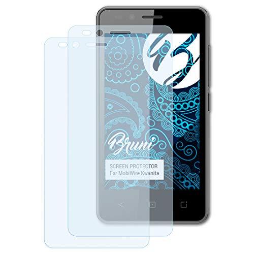 Bruni Schutzfolie kompatibel mit MobiWire Kwanita Folie, glasklare Bildschirmschutzfolie (2X)