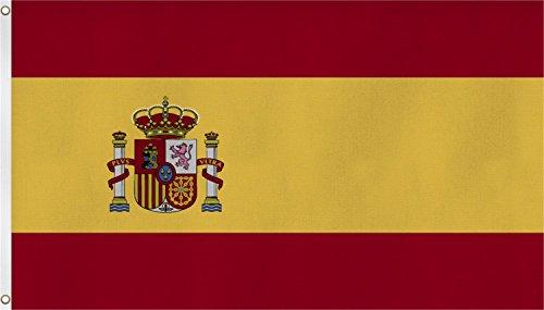 normani XXL Flagge Fahne, genäht in 150 x 250 oder 300 x 500 cm Farbe Spanien Größe 150x250