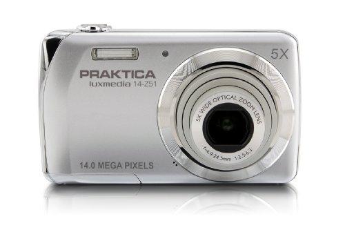 Praktica Luxmedia 14-Z51 Digitalkamera (14 Megapixel, 5-Fach Opt./ digitaler Zoom, 6,86 cm (2,7 Zoll) Display) Silber