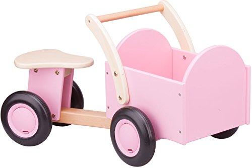 New Classic Toys - 11404 - Spielfahrzeuge - Kinder Holz-Rutscher Rutschauto mit Kasten in Rosa