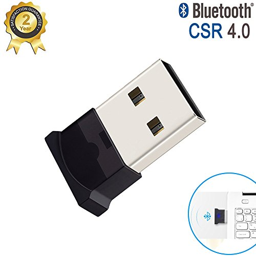 USB Bluetooth Adapter | Bluetooth USB Dongle | Nano Stick für PC mit Windows 10, 8, 7, XP, Vista | PLUG & PLAY | EINSTECKEN & EINSCHLATEN | Unterstützt BT Kopfhörer, Lautsprecher, Mäuse, Tastatur, etc
