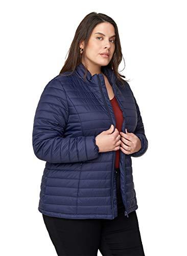 Zizzi Große Größen Damen Jacke mit Reißverschluss und Taschen Gr 50-52 Blau