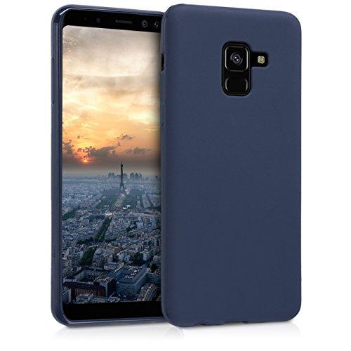 kwmobile Hülle kompatibel mit Samsung Galaxy A8 (2018) - Handyhülle - Handy Hülle in Dunkelblau matt