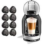 Dolce GUSTO MINI ME YY3888FD • Macchina da caffè automatica 15 bar • Caffettiera espresso e altre bevande + regalo (Mini ME • grigio + 8 capsule espresso intenso)