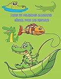 Livre de coloriage alligator génial pour les enfants: Livre de coloriage alligators et crocodiles pour enfants et enfants d'âge préscolaire, dessins simples et mignons. (Livres de coloriage mignons)