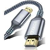 HDMI ケーブル【10m/4K60Hz/9種長さ】AKOADA HDMI2.0規格 PS4/3,Xbox, Nintendo Switch, Apple TV, Fire TVなど適用18gbps 4K60Hz/HDR/3D/イーサネット対応 テレビ ハイスピードプレミアム
