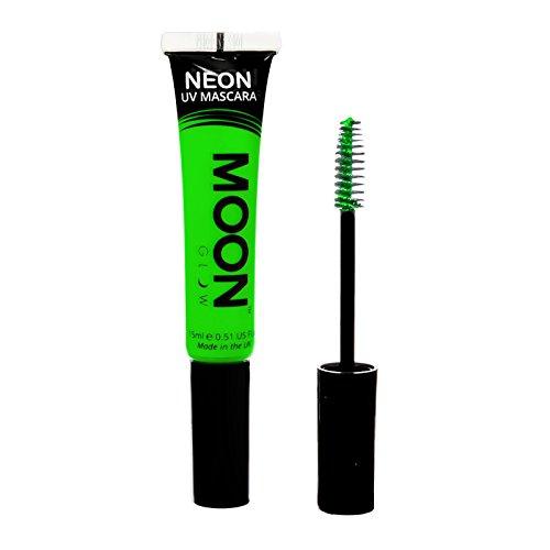 Moon Glow – Mascara néon UV 15ml Vert. qui produisent un effet fluo incroyable sous la lumière ultraviolette ou noire !