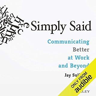 Simply Said audiobook cover art
