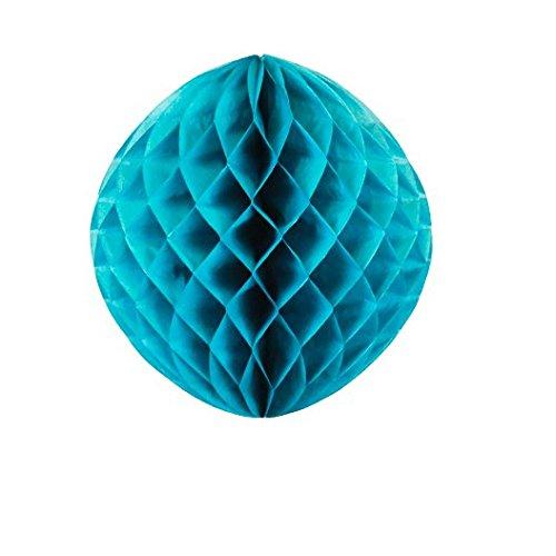 Sky Lantern Boule Chinoise ALVEOLEE NID d'abeille Bleu PETROLE 30 CM