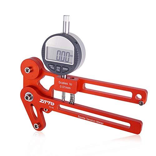 auspilybiber Fahrradspeichenspannungsmesser Spannungsprüfer Digitalanzeige Speichenspannung Fahrradfelgenhersteller-Werkzeug, Einstellwerkzeug für den Radringzähler
