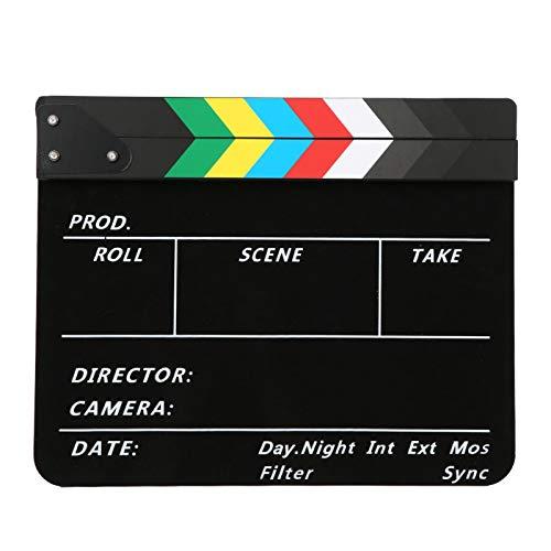Ladieshow 30x25CM Director Escena de Video Claqueta de Cine Profesional Película Acción...