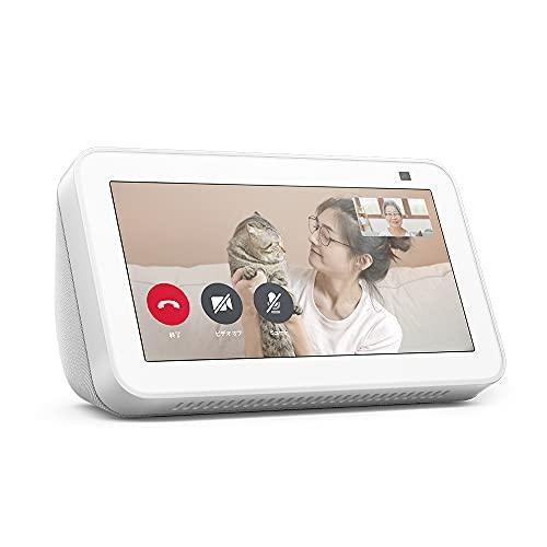 【新型】Echo Show 5 (エコーショー5) 第2世代 - スマートディスプレイ with Alexa、2メガピクセルカメラ付き、グレーシャーホワイト