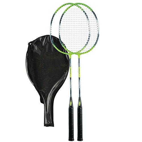 Badminton Set, 2 Schläger + Schutzhülle RS104 Redox