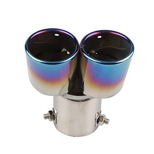 JEOSNDE Universal silenciador del Extractor del Extremo del Tubo Redondo de Acero Inoxidable de Coches Boca Doble Tubo de Escape Tubo de la Cola del Coche de la Garganta del Tubo de Escape