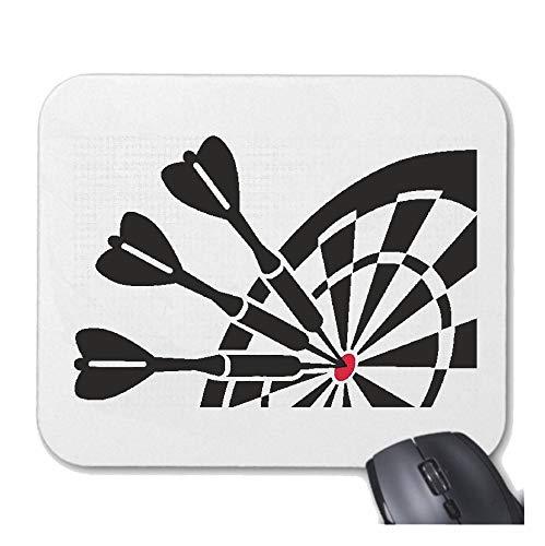 Helene Mousepad Mauspad Dart - Darts - DARTSCHEIBE - DARTPFEIL - Dart Club für ihren Laptop, Notebook oder Internet PC mit Windows Linux in Weiß