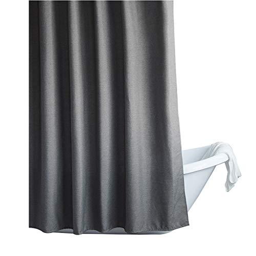 Nachahmung Leinen japanischen Bad Duschvorhang wasserdicht Dicke Trennwand Duschvorhang Duschvorhang Liner Schimmel beständig mit Duschvorhang Haken Waschbar (Size : 150