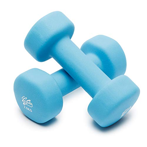 Neoprene Dumbbell Weights Home Gym Fitness Aerobic Exercise Iron Pair Hand - Set of 2 Dumbbells (2 x 2.5kg)