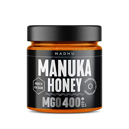 Manuka Honig 400+ MGO im hochwertigen Glas - Direkt vom Imker aus Neuseeland - zertifizierter Methylglyoxal-Gehalt (500g)
