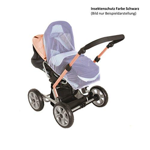 Smart-Planet® hochwertiger Universal - Insektenschutz / Insekten Netz / Fliegengitter passend für Kinderwagen Sportwagen Buggys und Kinderreisebett - Farbe schwarz