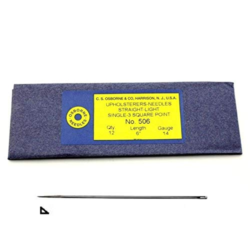 Why Should You Buy C.S. Osborne Pack of 12 Straight 3-Square Point Needles #506, Size 6, 14 Gauge