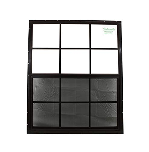 30 x 36 Brown Flush Shed Window Safety Glass Garage Barn Storage Shed Coops Playhouse Tree H