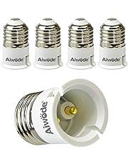 Aiwode E27-fittingadapter, E27 naar B22 converter voor leds, gloei- en CFL-lampen, maximaal vermogen 200W, 0~250V, 120 graden hittebestendig, verpakking van 5 stuks.