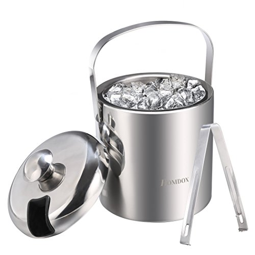 Homdox stainless steel ice bucket