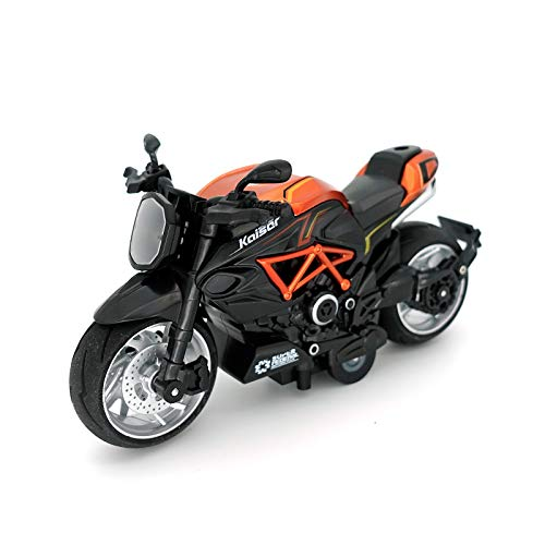motorcycle toy for kids Kids Toy Motorcycle - 1:12 Scale Motorcycle Toy with Sound and Light,Motorcycle Toys for Boys Age 3-12 (Orange)