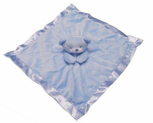 Gorgeous Blue Boys Supersoft Plush Velour Teddy Bear Baby Comforter/Blanket by Comforter