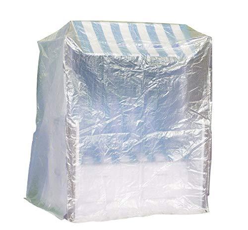 Fachhandel Plus Komfort Schutzhülle XXL Abdeckung für Strandkorb B130xT108xH165 transparent