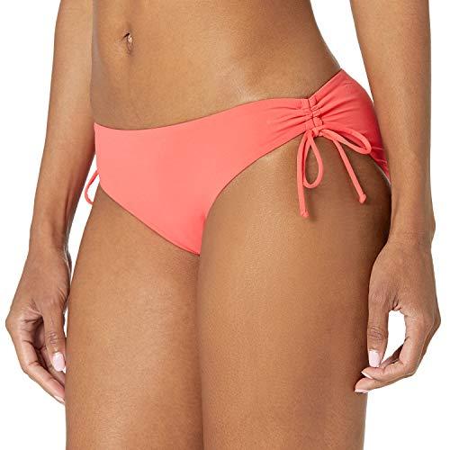 Roxy Women's Standard Solid Beach Classics Full Bikini Bottom, Cayenne, S