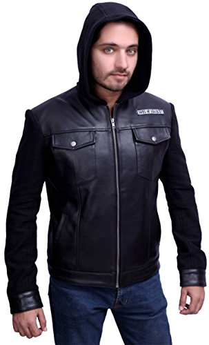 Sons of Anarchy Schwarze Highway Lederjacke Gr. XXXL, schwarz
