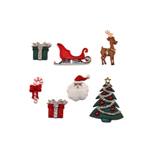Dress It Up JBT2464 7 Piece Christmas Eve Button Pack 39 x 29 x 06 Inch Multicolor