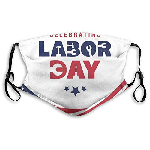 MundschutzWiederverwendbarerMundschutzimFreien,Celebrating Labor Day Composition with An American Flag,NahtloseRänderAußenabdeckungen