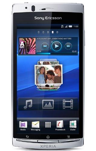Sony Ericsson Xperia arc S Smartphone (10.67cm (4.2 Zoll) Touchscreen, 8.1MP Kamera, GPS, HDMI, HSDPA, WIFI, Android 2.3 OS) misty silver