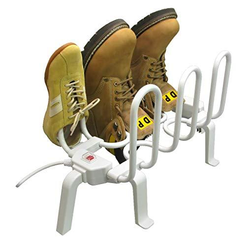HaoLi Secador de Zapatos Secador de Calzado eléctrico Calentador de Botas, desodorizante, portátil Secador de Botas Winter Essentials for The Family para 3 Pares de Zapatos, Blanco