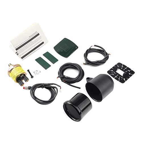Coche auto 12 V 52 mm 10 colores universal aceite prensa manómetro LED con sensor medidor taza