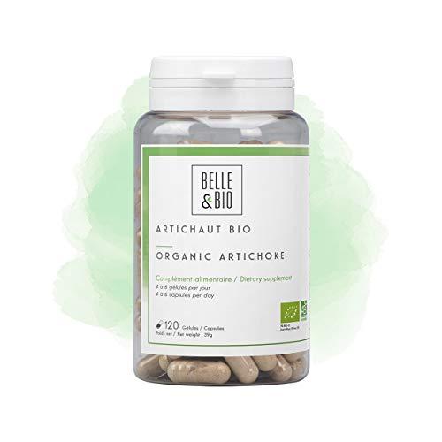 Belle&Bio - Artichaut Bio - 120 gélules - 150 mg/gélule - Brûleur - Capteur - Certifié Bio par Ecocert - Fabriqué en France