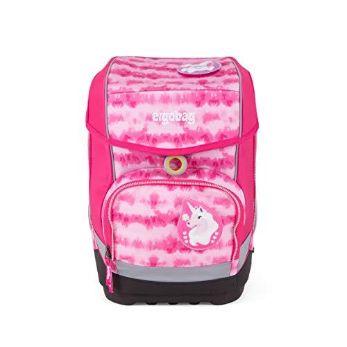 ergobag cubo Set - ergonomischer Schulrucksack, Set 5-teilig, 19 Liter, 1.100 g - ZauBärwatte - Pink