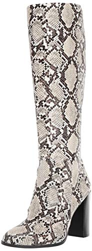 Kenneth Cole New York Women's Justin High Heel Knee Boot, Black/Off White, 6.5