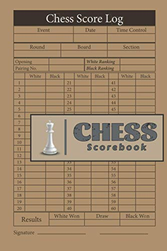Chess Scorebook: 100 Chess Score Sheets With 60 Moves, Chess Tournament Log Book, Gift For Chess Players.