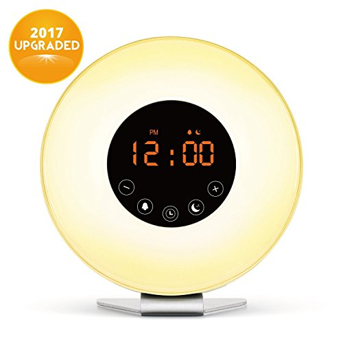 Wake Up Light, Digital Sunrise Alarm Clock