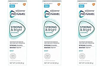 Sensodyne Pronamel Strong and Bright Mint Toothpaste 3 Ounce  Pack of 3