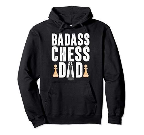 チェス バッドアス おとうさん チェックメイト ゲーム プレーヤー 女王 王様 プレゼント パーカー
