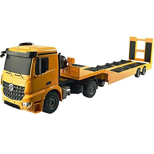 BPDD 1:20 Remolque de Control Remoto camión colección de transportador de Cama Plana decoración del hogar camión eléctrico inalámbrico Coche de Juguete para niño