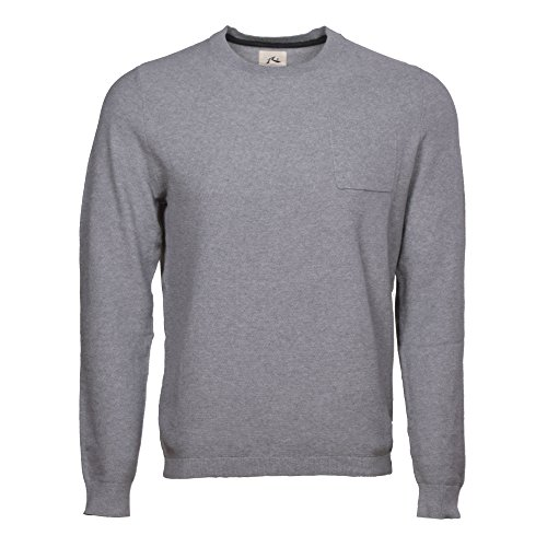 Rusty Men's Treason Crew Neck Knit Sweater, Grey Marle, Large