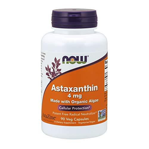 Astaxanthin Orgânica 4mg 90 Cápsulas Veganas Now Foods