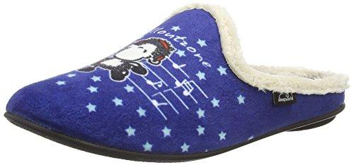 Sheepworld Damen 320427 Pantoffeln, Blau (Blau), 36 EU