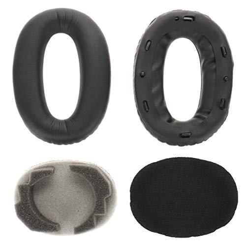 Ersatz Ohrpolster kompatibel mit Sony WH1000XM2, WH1000XM3 & MDR 1000X Kopfhörer | inkl. Schaumstoffeinsatz